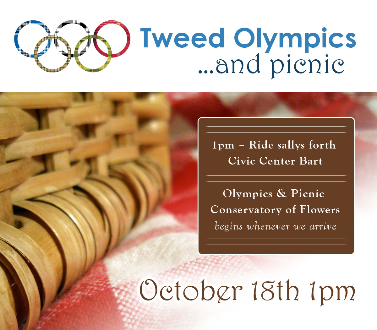 SF Tweed Olympics Picnic ~ Oct 18th, 1pm