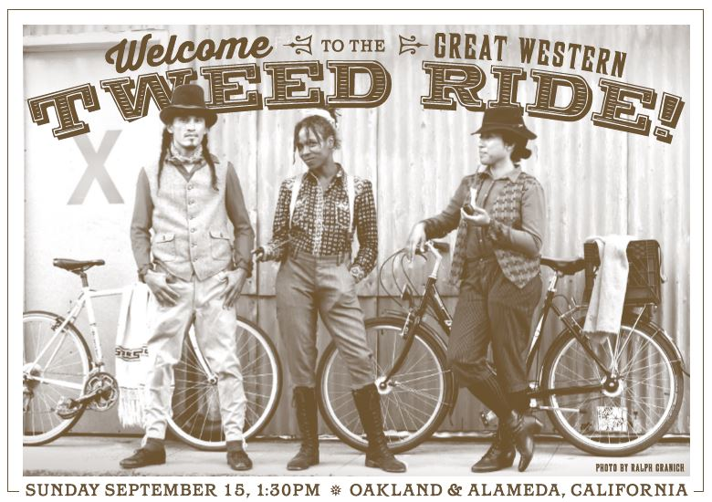 East Bay Tweed Ride Sept 15th!